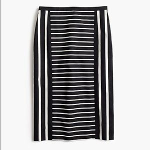 J. CREW | PETITE MIXED STRIPE NO. 2 PENCIL SKIRT